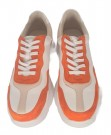 Orange, hvit og creme chunky sneakers thumbnail