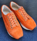 Orange semskede sneakers thumbnail