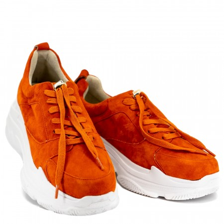 Orange chunky sneakers